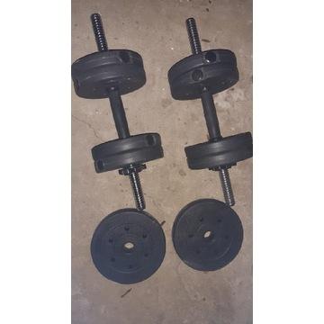 Hantle 4 x 1,25kg + 2×2,5 kg