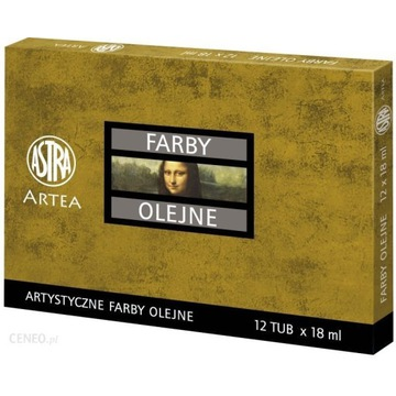 Farby olejne artystyczne ASTRA ARTEA 12 tub 18ml