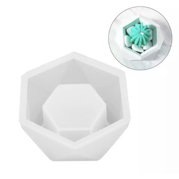 Ośmiokątna silikonowa forma (świeczniki, doniczki)