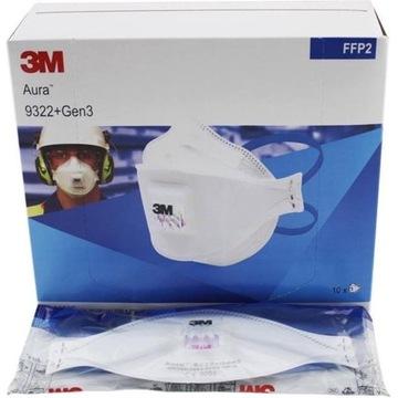 Maska Maseczka 3M Aura 9322+ Gen3 FFP2 - 10 sztuk