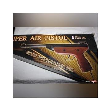 Wiatrówka pistolet 5,5mm S2 drewno