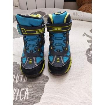 Buty zimowe Elbrus r. 33, wodoodporne, śniegowce