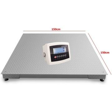 Waga platformowa paletowa 1,5x1,5m 3t 5t LCD