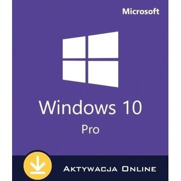 Klucz Windows 10 Pro x32/x64 - Aktywacja ONLINE