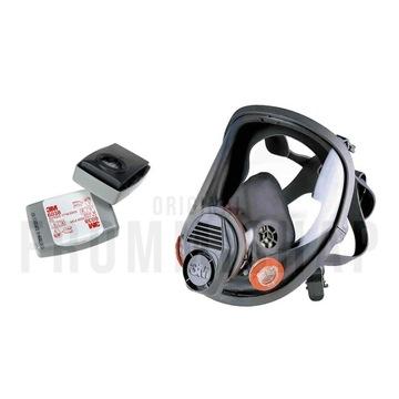3M Maska 6800 + Filtropochłaniacze węglowe 6038 P3