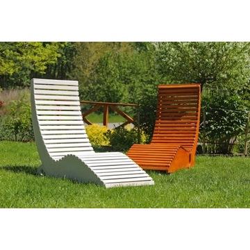 Leżak drewniany ogrodowy, basenowy.