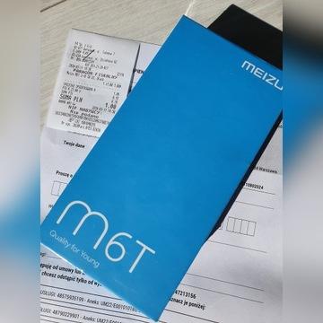 Smartfon Meizu M6T nowy, gwarancja bez sim czarny