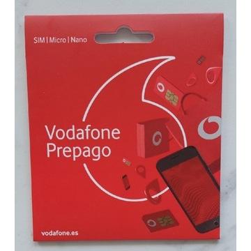 Hiszpański Vodafone traveller prepago roaming