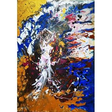 Obraz Kobieta abstrakcja 40 x 50 cm