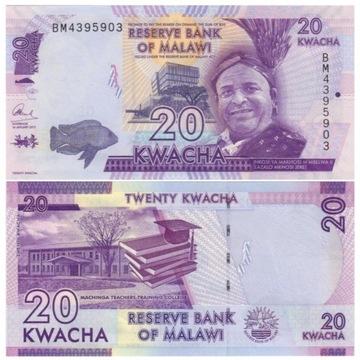 MALAWI 20 KWACHA 2017 P63d UNC