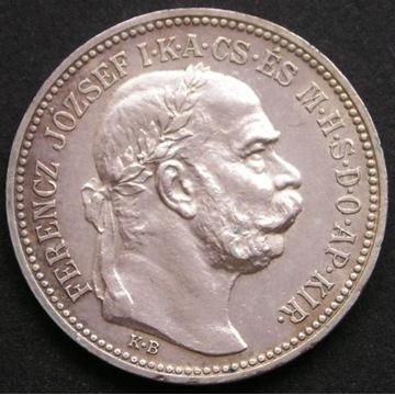 Węgry 1 korona 1915 - Ferencz Jozsef - srebro - s2