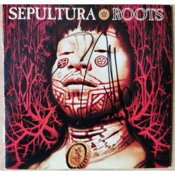 Sepultura Roots płyta CD z autografami