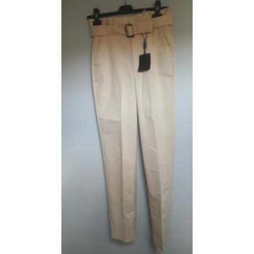 Massimo dutti - Letnie bawełniane  spodnie roz 34