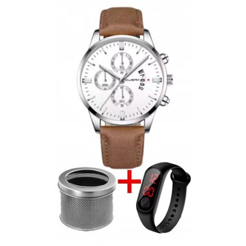 Zegarek męski na prezent + GRATIS ozdobna puszka