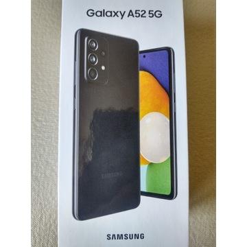 NOWY czarny smartfon SAMSUNG Galaxy A52 5G 6/128GB