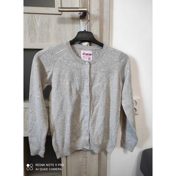 Bluzka dziewczęca sweterek szary rozmiar 140 nowa