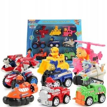 Patrol Pieski 9 autek z figurkami Dog