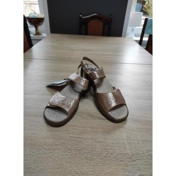 Damskie złote sandały rozmiar 39 nowe