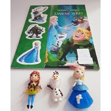 KRAINA LODU książeczka,naklejki  z figurkami