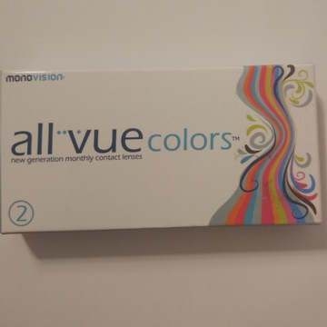 Soczewki kolorowe All Vue zielone -1.00 różne moce