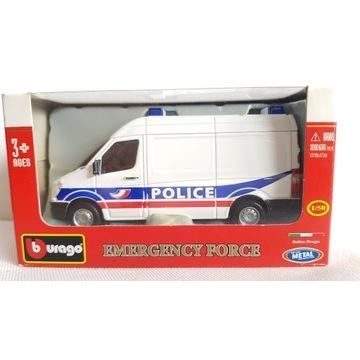 Bburago Mercedes Sprinter Policja Burago 1:50