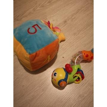 Zabawki dla niemowlaka dżdżownica kostka