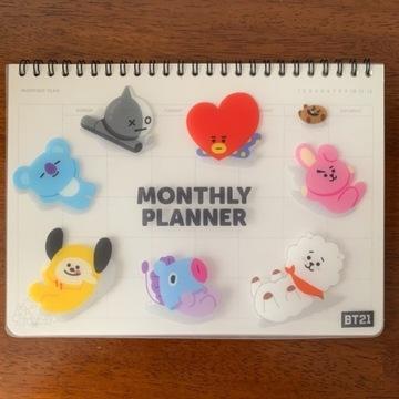 BT21 kalendarz monthly planner /miesięczny planner