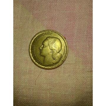 10 francs 1951 i 1951B kpl.