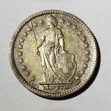 2 franki, Szwajcaria 1944 srebro