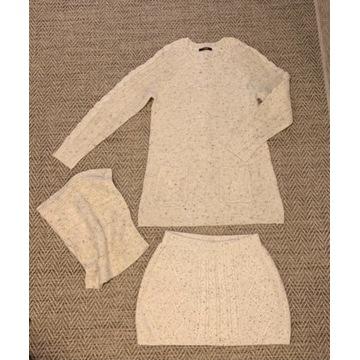 Sweter spódnica komin komplet