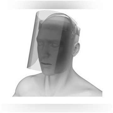 Przyłbica ochronna/ przesłona twarzy zestaw 10 szt