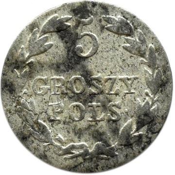 Królestwo Polskie 5 groszy 1826, rzadki rocznik