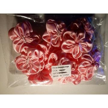 Kwiatki satynowe Jasny blady róż pakiet 12x