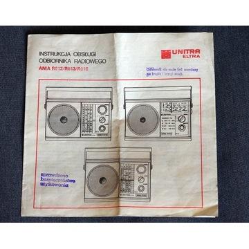Radioodbiornik Ania - Instrukcja, schemat.