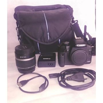 Lustrzanka Canon 500D + obiektyw+ akcesoria