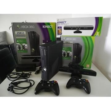 Xbox 360 SLIM z dyskiem 1TB, 2Pady, Kinect+104 Gry