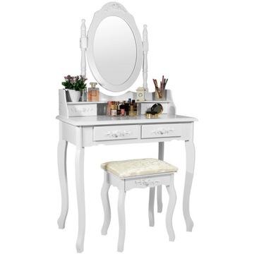 Toaletka Kosmetyczna ze stołeczkiem