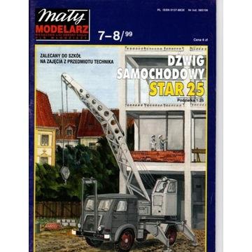 MM 7-8/1999 Dźwig samochodowy Star 25