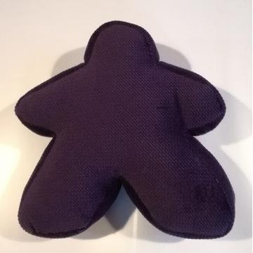 Mały ciemnofioletowy pluszowy meeple z Carcassonne