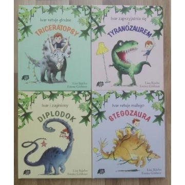 Ivar i dinozaury seria 4 tomy BJARBO GOTHNER