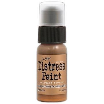 Distress Paint - Farba Metaliczna - Antyczny Brąz