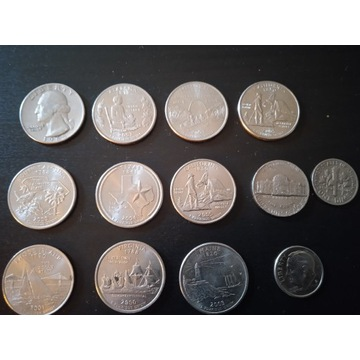 Zestaw monet USA