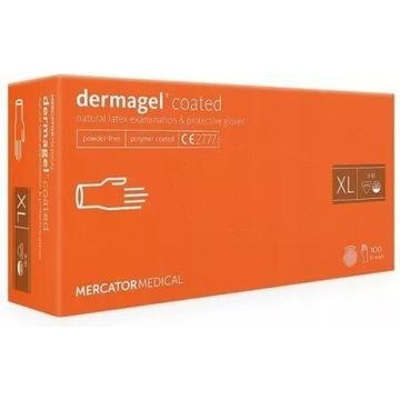 Rękawice jednorazowe Dermagel Coated lateksowe XL