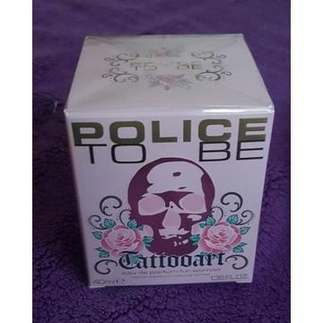 PERFUMY DAMSKIE POLICE TO BE WOMAN TATTOO ART 40ML
