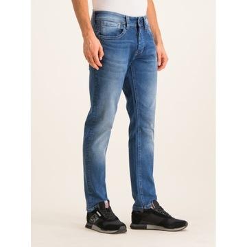 Nowe spodnie Pepe Jeans Cash 33/32 proste wytarte