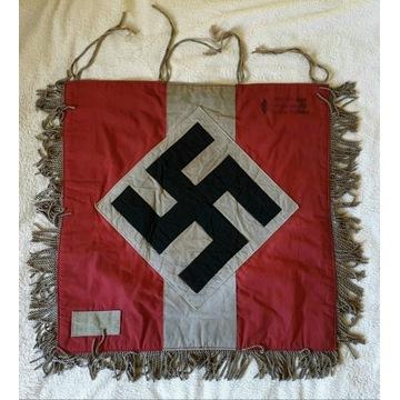 Baner HJ SS, NSDAP, WW2, III RZESZA, HITLER, wojna