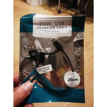 Kabel micro USB i lithening do iPhone
