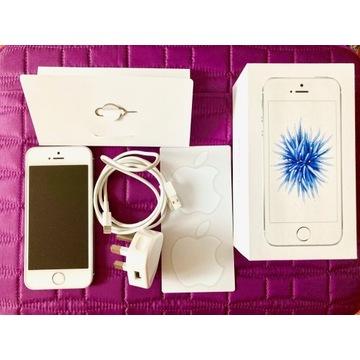 iPhone SE srebrny 32GB-idealny-TOUCH ID + Gratisy