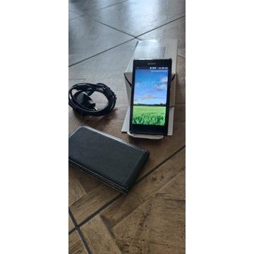 Sony Xperia L + Ładowarka + Etui  Stan . B. Dobry!