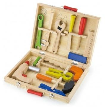 Drewniana Walizka Z Narzędziami Viga Toys
